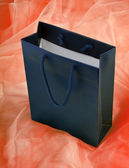 Blue shopping bag. — Stock Photo