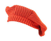 Orange wool beret. — Foto de Stock
