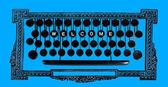 Välkommen på vintage tangentbord — Stockfoto