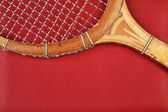 Detail of vintage racket — Stock Photo