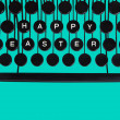 Happy Easter on green — Stock Photo