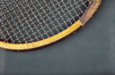 Detail of vintage racket — Foto Stock