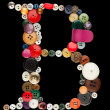Buttons alphabet  - letter B — Stock Photo #41278345