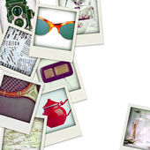 Collage of nine photos of vintage object — Stock Photo
