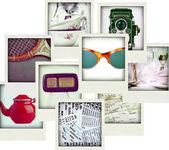 Collage av nio bilder av vintage objekt — Stockfoto