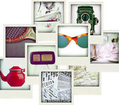 Collage aus neun Fotos von Vintage-Objekt — Stockfoto