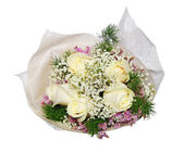 Little bouquet isolated on white — Foto de Stock