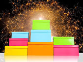 Stack of several boxes — Stockfoto