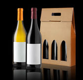 Wine gift box  — Stock Photo