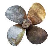 Fyra blad båt propeller — Stockfoto