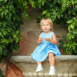 Little girl in a dress — Stock Photo