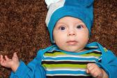 Bebé de ojos azules — Foto de Stock