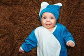 Blue-eyed baby — Stock Photo