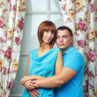 Man and woman hugging — Stock Photo
