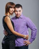 Man and woman hugging — Stock Photo