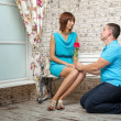 Marriage proposal — Stock Photo
