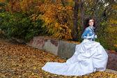 Bride in wedding dress — Stock Photo