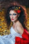 Braut im hochzeitskleid — Stockfoto