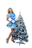 Blonde and Christmas — Stock Photo