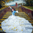 Bride on stairs — Stock Photo #37366199