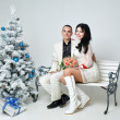 Couple and Christmas — Stock Photo