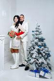 Couple and Christmas — Stock Photo