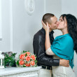 Stock Photo: passionate kiss