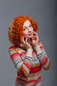 Pretty red-haired girl — Stock Photo