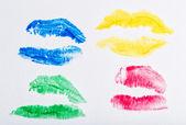 Imprint of lipstick — Stock Photo