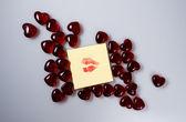 Lips imprint — Stock Photo