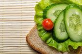 烤面包,蔬菜 — 图库照片