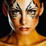 Girl tigress — Stock Photo #45684129