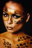 Girl leopard — Stock Photo