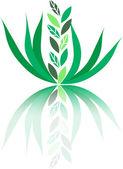 緑の植物 — ストックベクタ