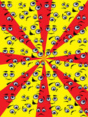 Set of eyes — Stock Vector