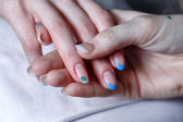 Creation manicure — Stock Photo