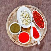 Koření a omáčky — Stock fotografie