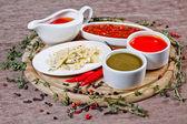 Condimentos y salsas — Foto de Stock