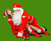 Santa Claus and Snow Maiden — ストック写真