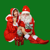 Santa Claus and Snow Maiden — Foto Stock