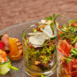 Restaurant food canapes appetizers — Stock Photo #51386115