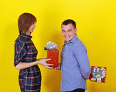 Giving Gifts — Stock Photo