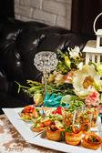 Restauracja jedzenie kanapki przekąski — Zdjęcie stockowe