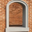 Arched window of bricks — Stock Photo