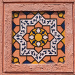 Traditional Moroccan tile pattern, very common in Morocco — Stock Photo