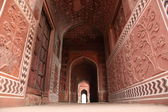 Taj mahal door way — Stock Photo