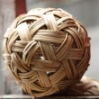Rattan ball the southeast asia favorite sports — Stock Photo