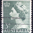 AUSTRALIA - CIRCA 1953: A stamp printed in Australia shows Queen Elizabeth II, circa 1953  — 图库照片