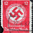 GERMANY - CIRCA 1942: A stamp printed by the fascist Germany Post shows a swastika in a garland, circa 1942 — Stock Photo