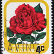 NEW ZEALAND - CIRCA 1975: A stamp printed in New Zealand, shows the rose varieties. Josephine Bruce, circa 1975 — Stock Photo #32759417
